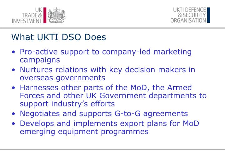 What ukti dso does