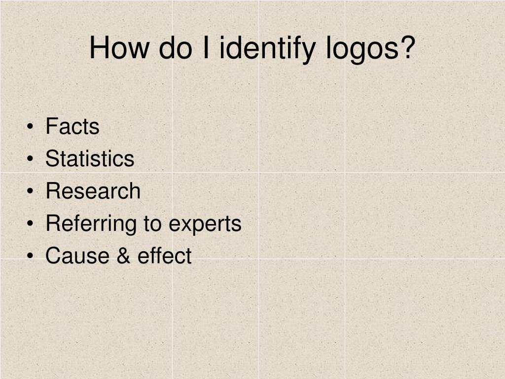 How do I identify logos?