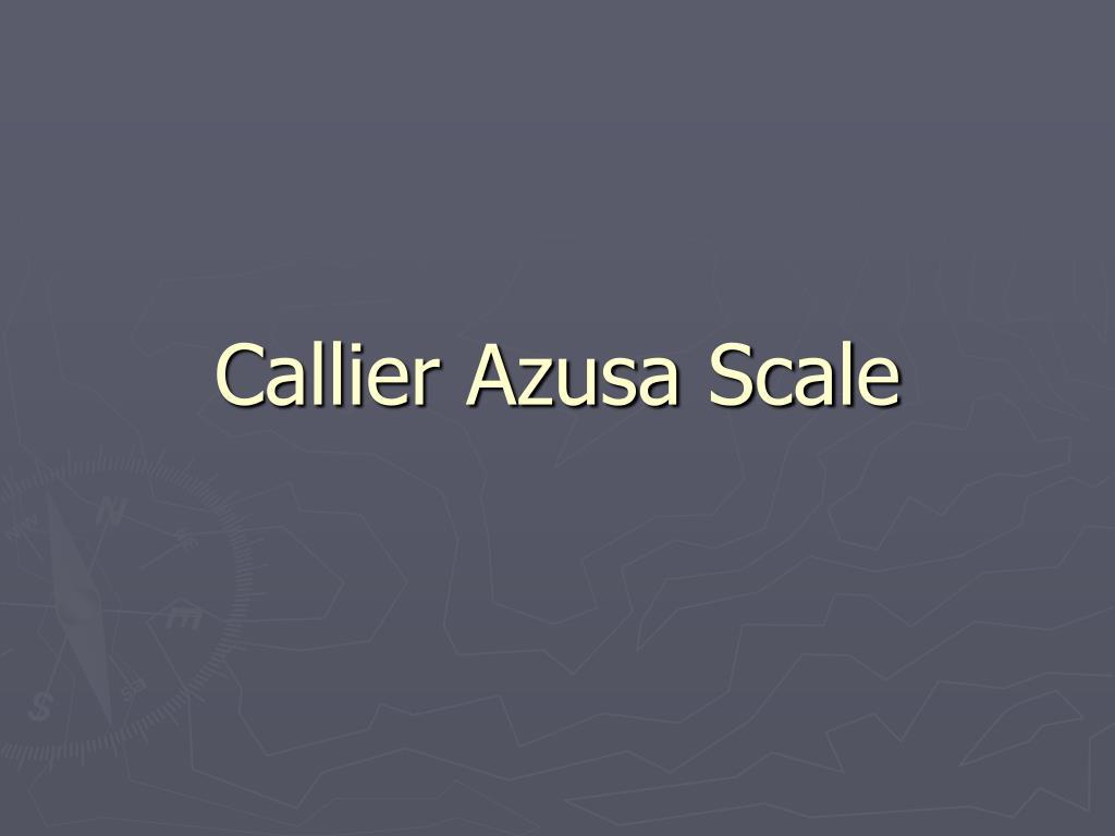 Callier Azusa Scale