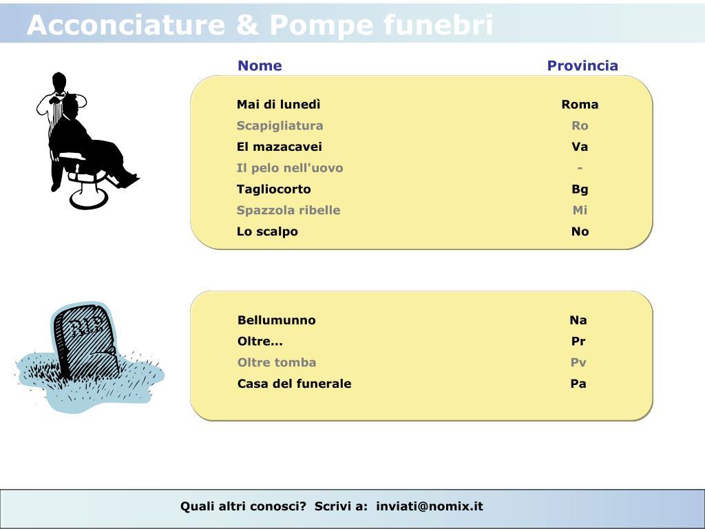 Acconciature & Pompe funebri