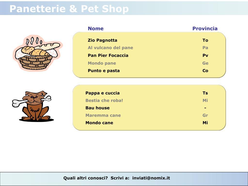 Panetterie & Pet Shop