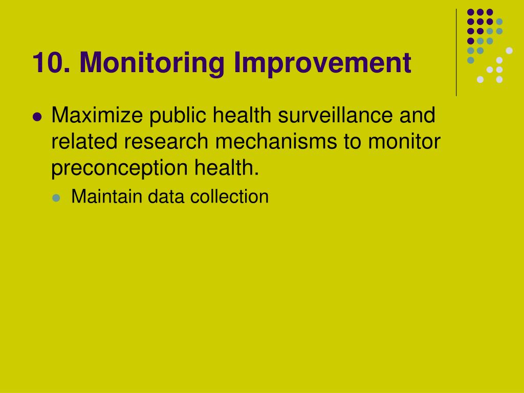 10. Monitoring Improvement