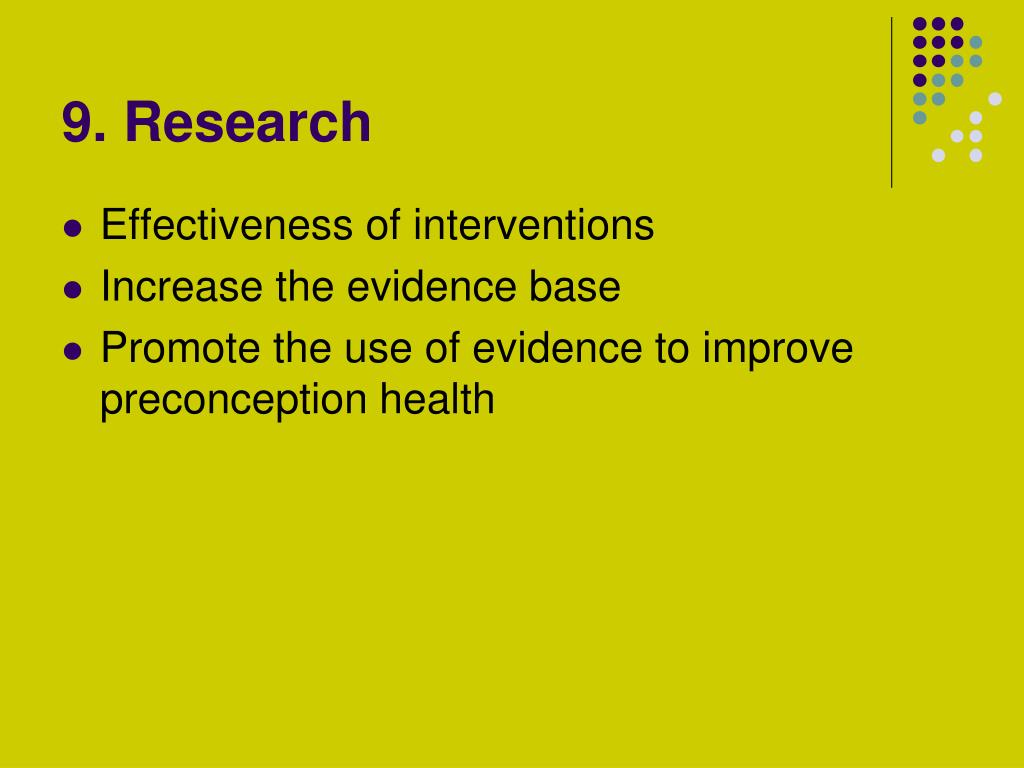 9. Research