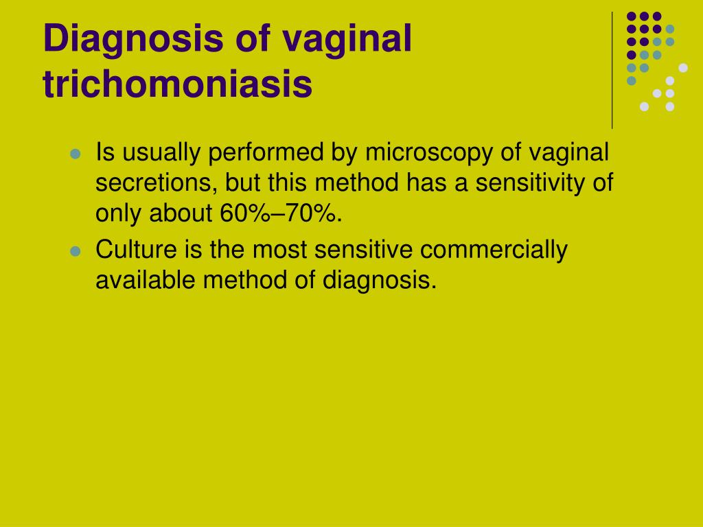 Diagnosis of vaginal trichomoniasis