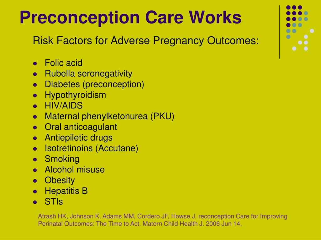 Preconception Care Works