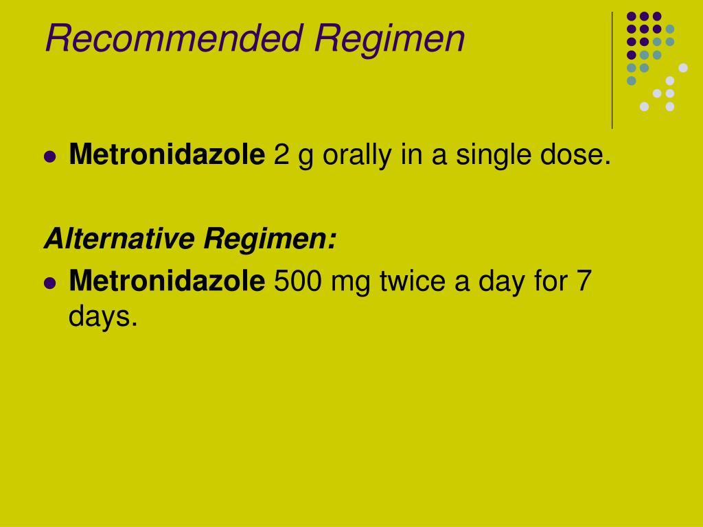 Recommended Regimen
