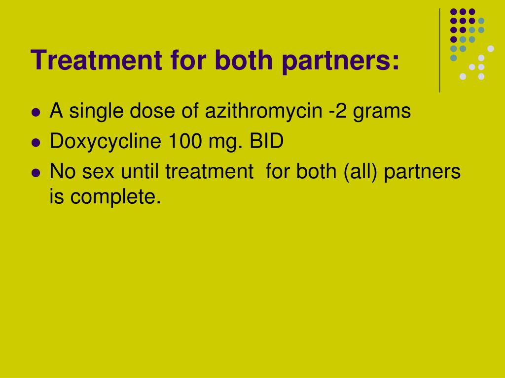 Treatment for both partners: