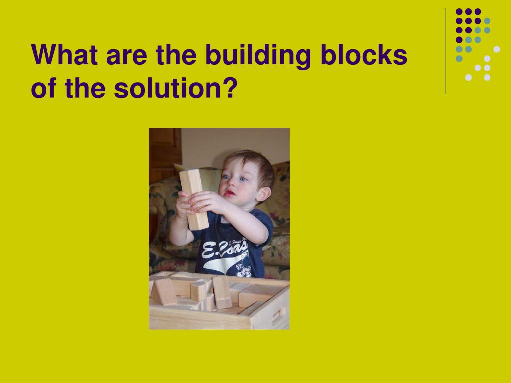 What are the building blocks of the solution?