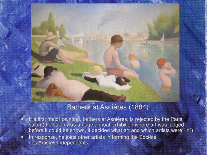 His first major painting, bathers at Asni