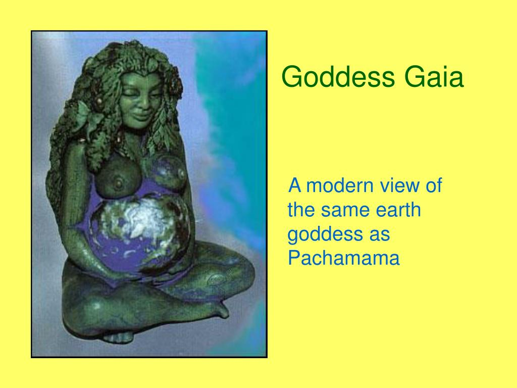 A modern view of the same earth goddess as Pachamama
