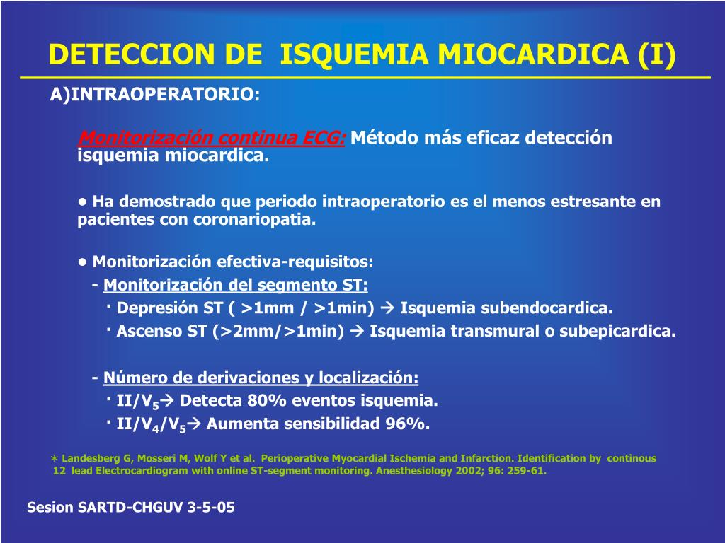 DETECCION DE  ISQUEMIA MIOCARDICA (I)