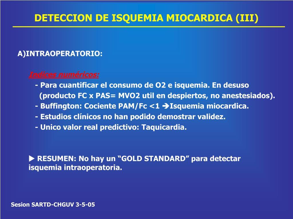 DETECCION DE ISQUEMIA MIOCARDICA (III)