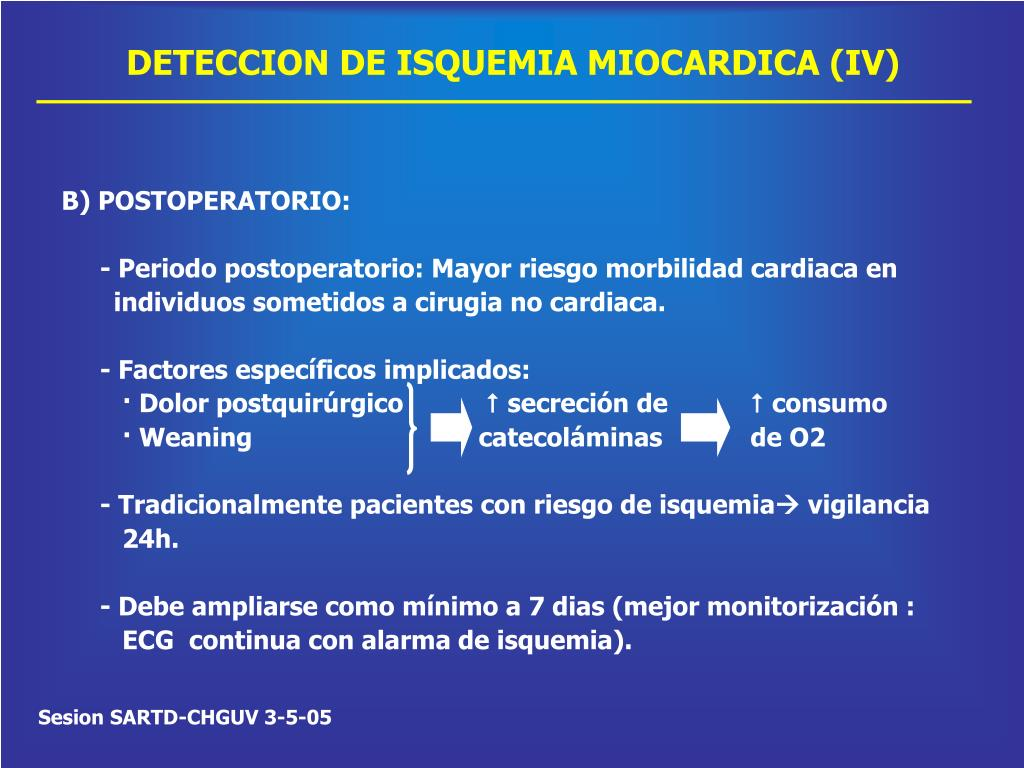 DETECCION DE ISQUEMIA MIOCARDICA (IV)