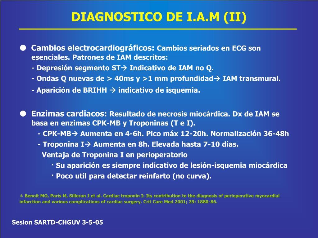 DIAGNOSTICO DE I.A.M (II)