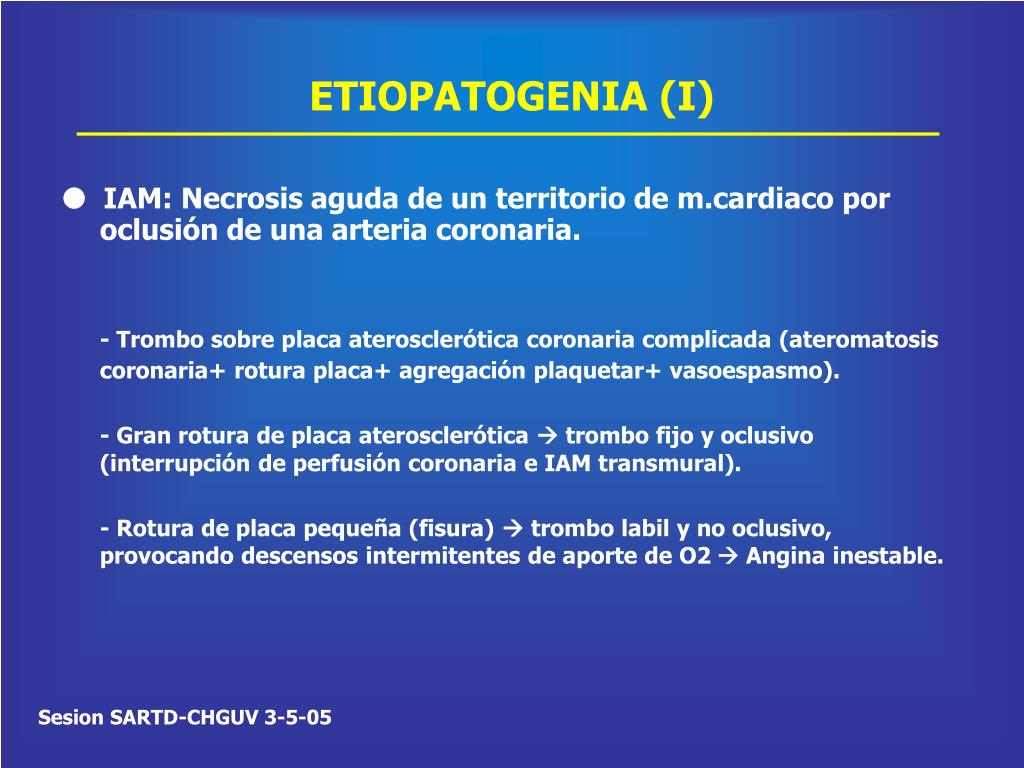 ETIOPATOGENIA (I)