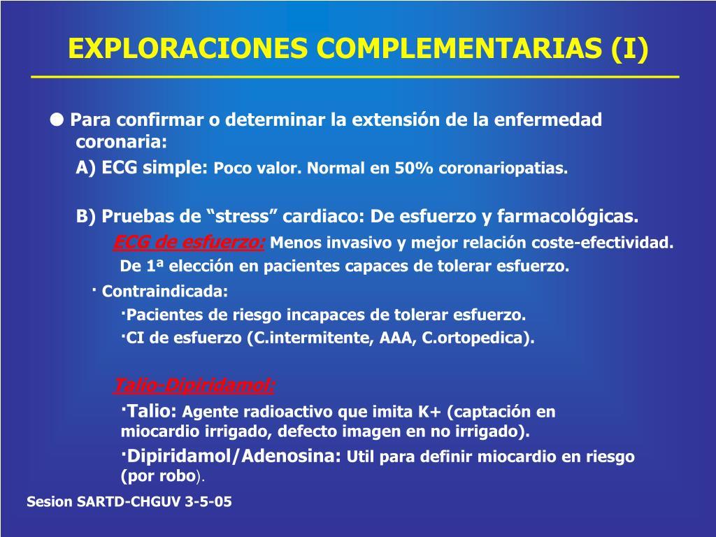 EXPLORACIONES COMPLEMENTARIAS (I)