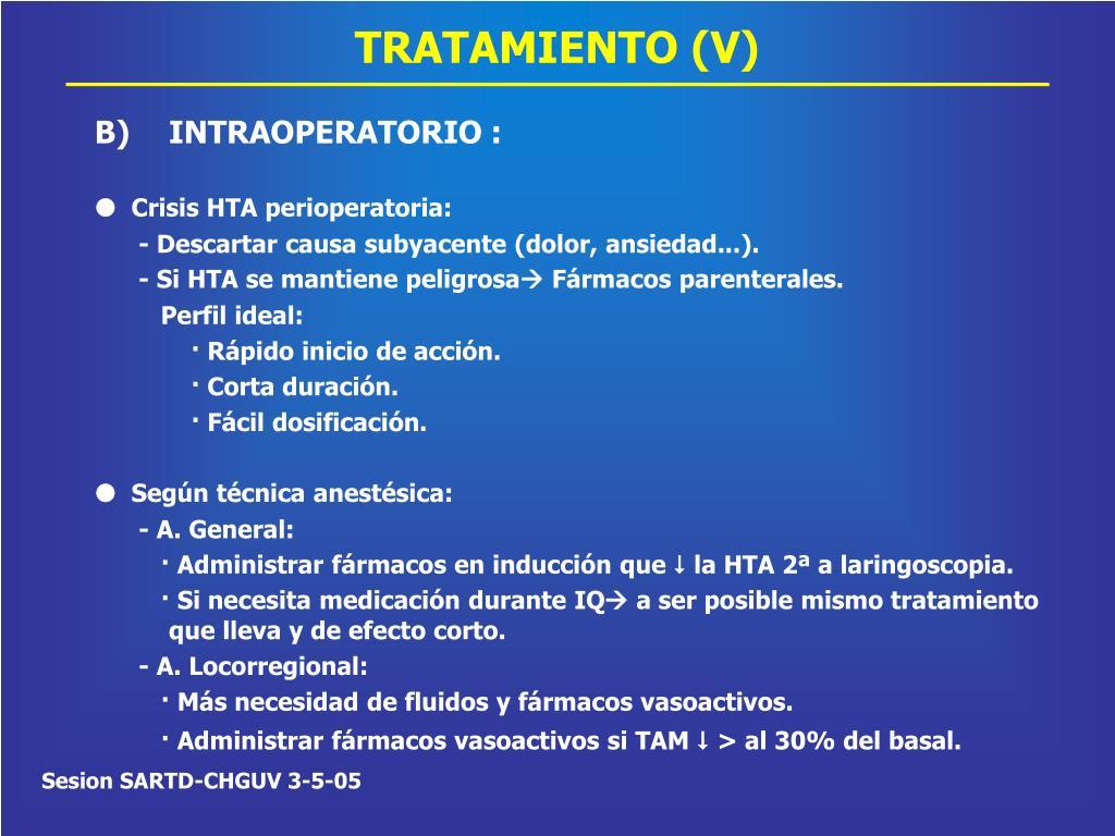 TRATAMIENTO (V)