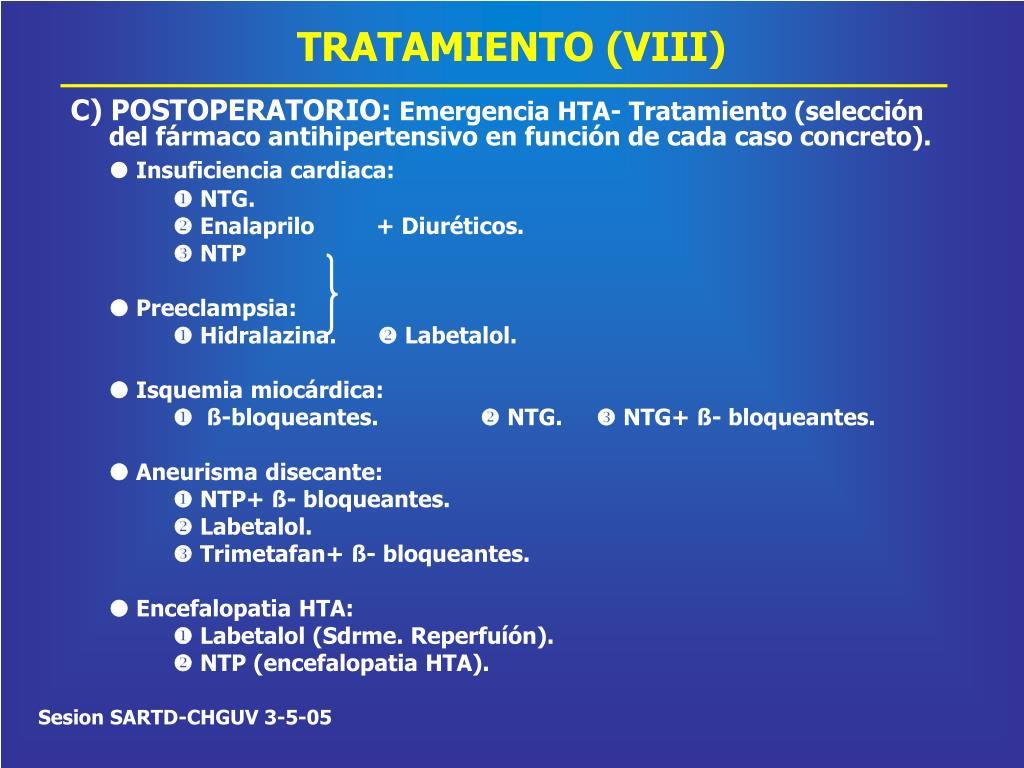 TRATAMIENTO (VIII)