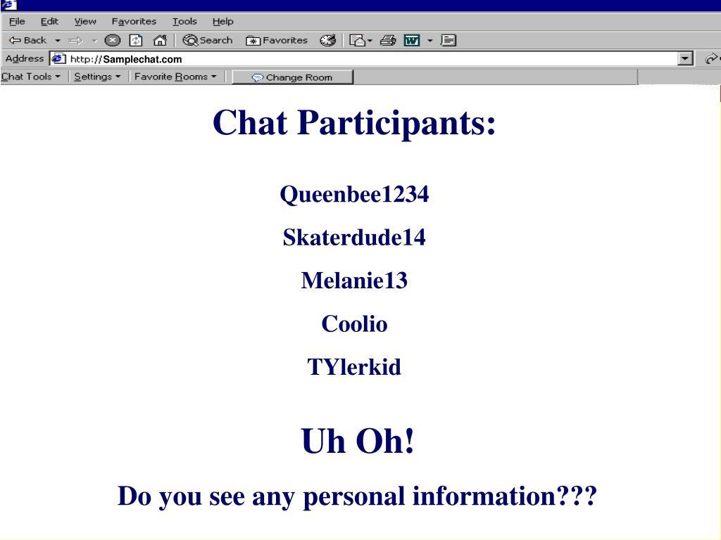 Chat Participants: