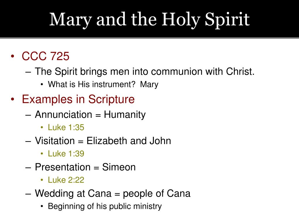 Mary and the Holy Spirit