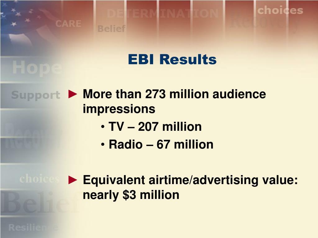 EBI Results