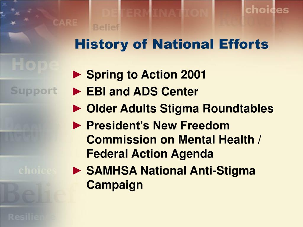 History of National Efforts