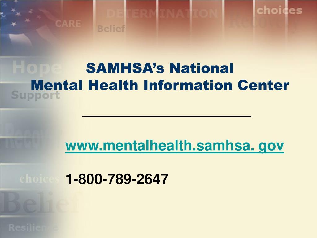SAMHSA's National