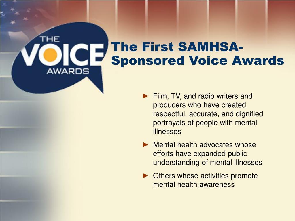 The First SAMHSA-