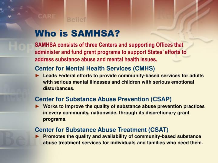 Who is samhsa