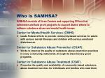 who is samhsa