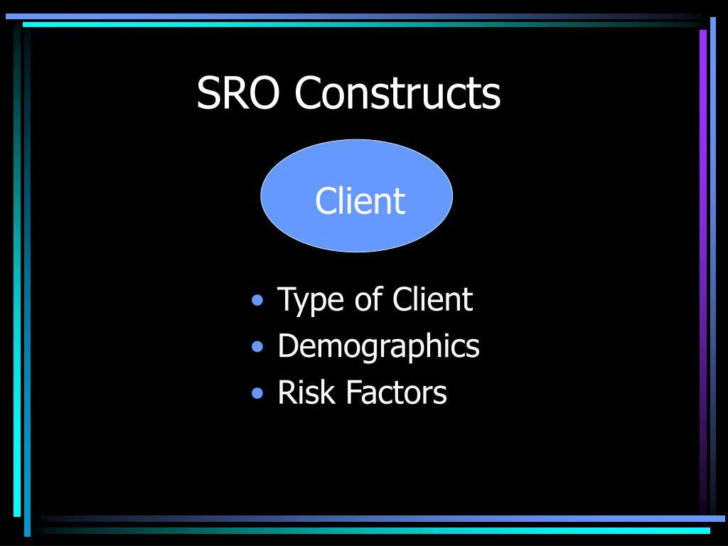 SRO Constructs
