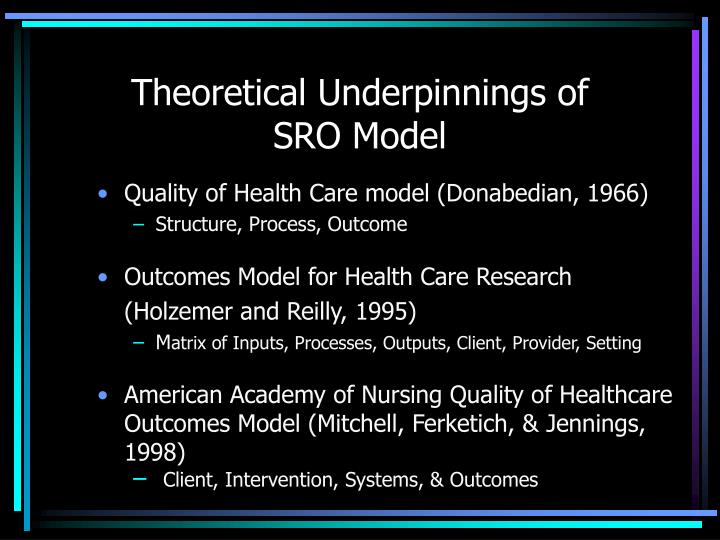 Theoretical underpinnings of sro model l.jpg