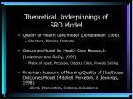theoretical underpinnings of sro model