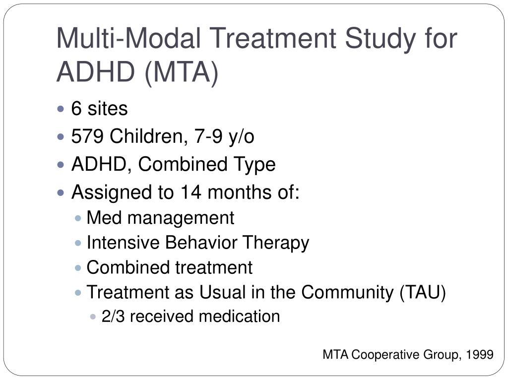 Multi-Modal Treatment Study for ADHD (MTA)