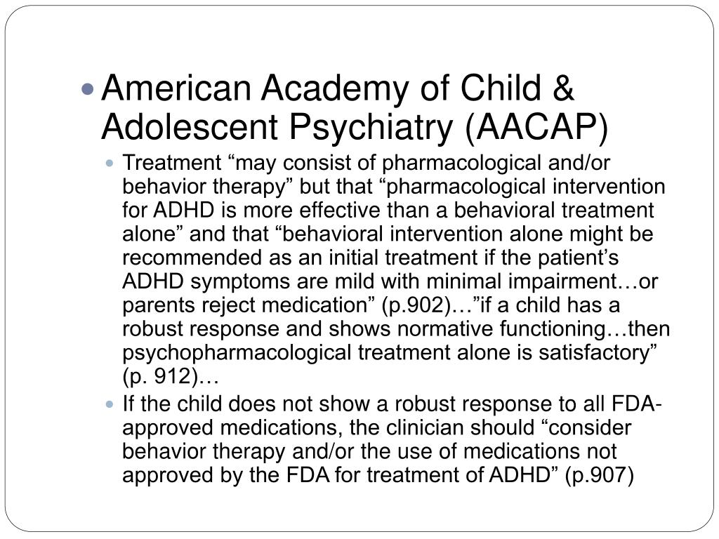 American Academy of Child & Adolescent Psychiatry (AACAP)