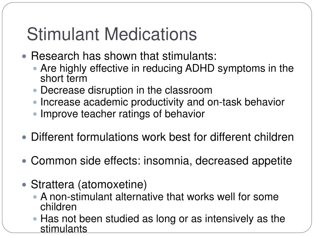 Stimulant Medications