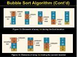 bubble sort algorithm cont d
