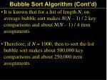 bubble sort algorithm cont d31