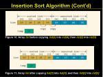 insertion sort algorithm cont d21
