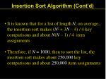 insertion sort algorithm cont d24