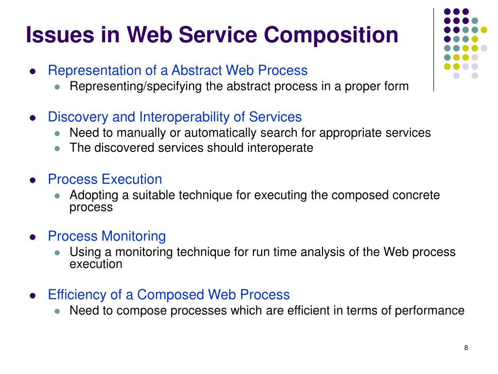 Issues in Web Service Composition