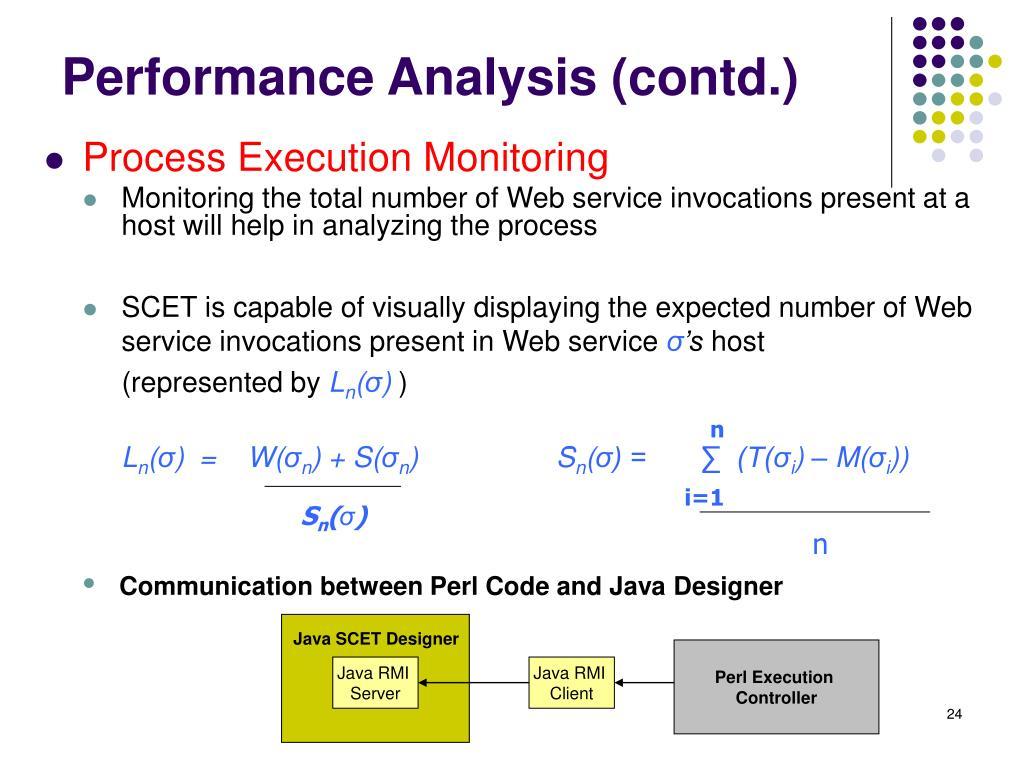 Performance Analysis (contd.)