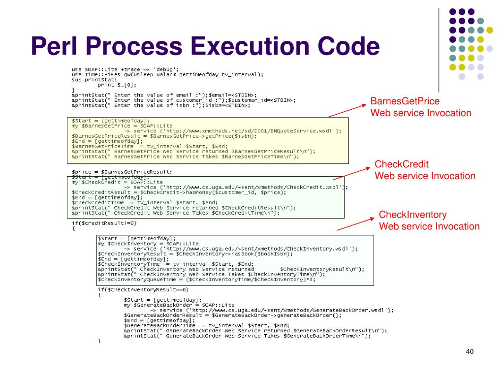 Perl Process Execution Code