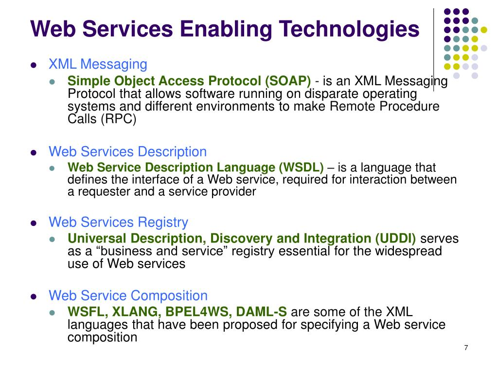 Web Services Enabling Technologies