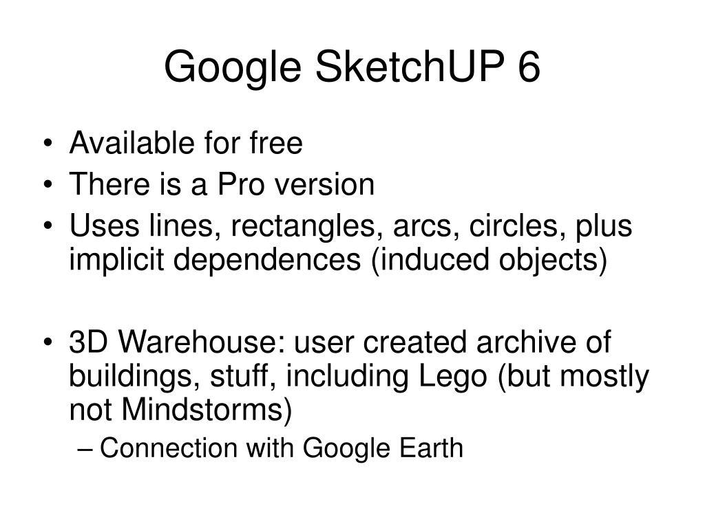 Google SketchUP 6