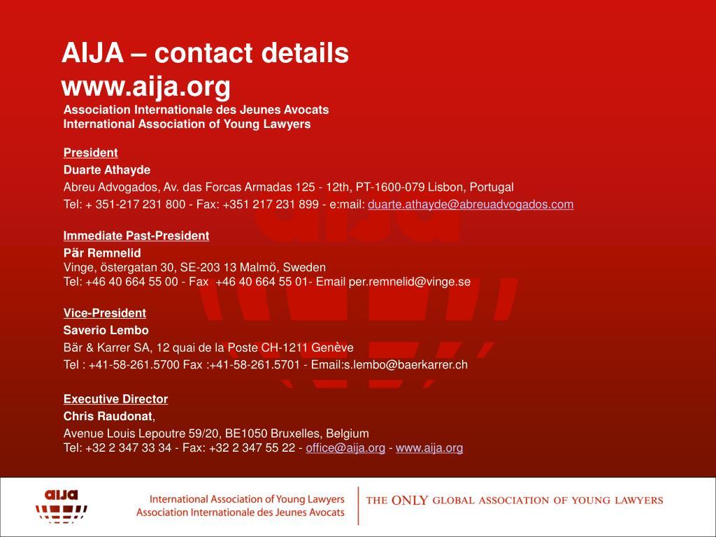 AIJA – contact details
