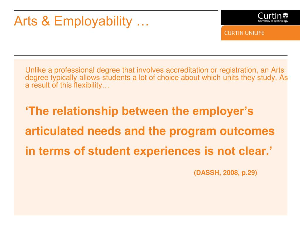 Arts & Employability …
