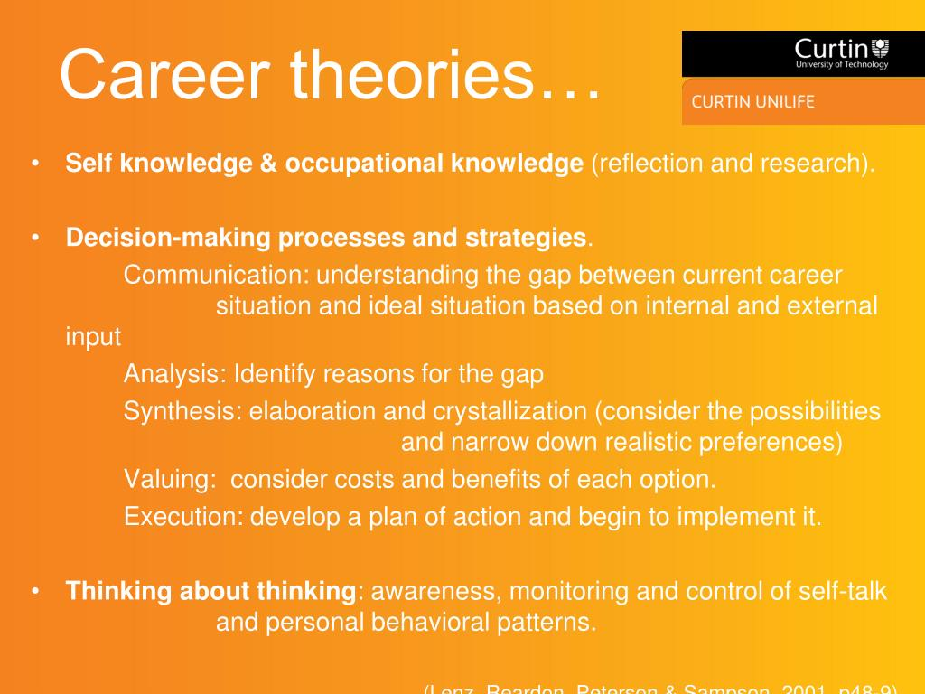 Career theories…