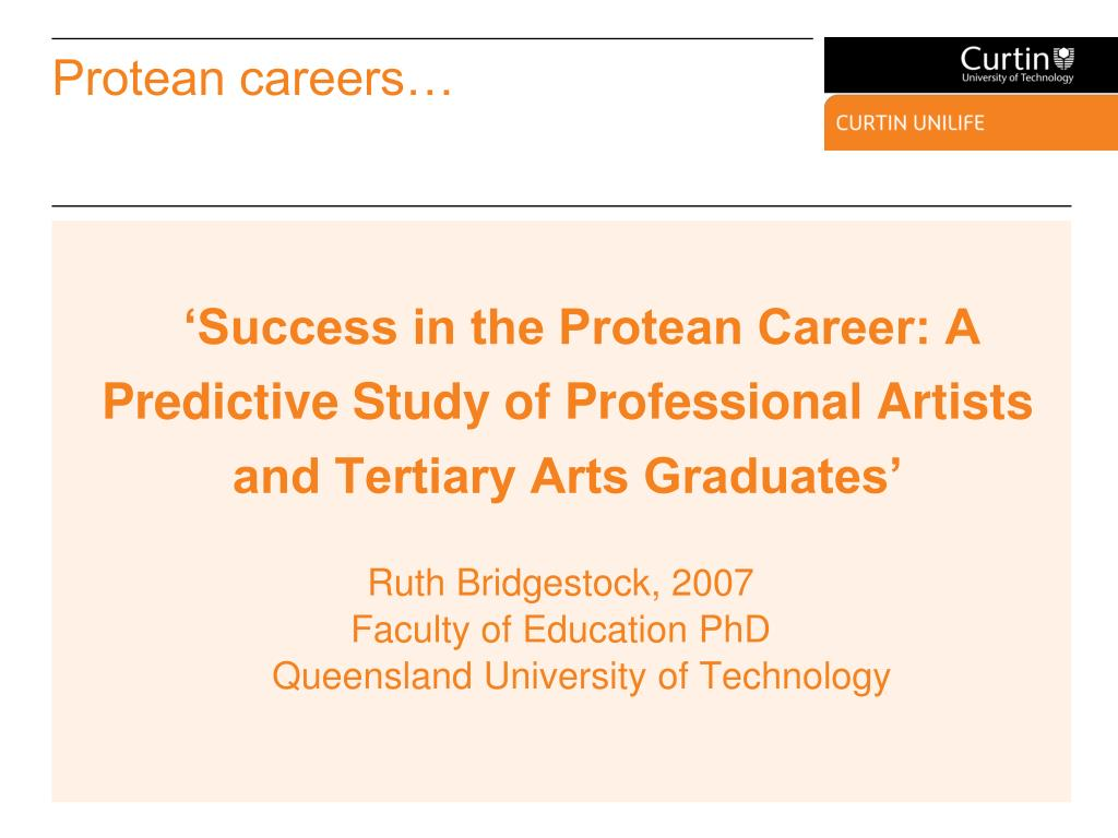 Protean careers…
