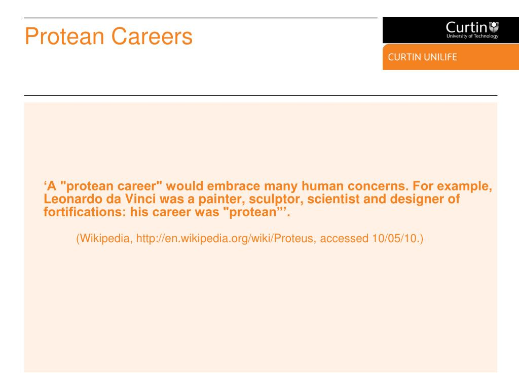 Protean Careers